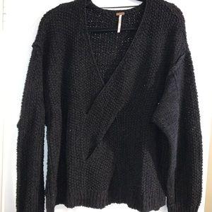 Free People black knit sweater size Medium